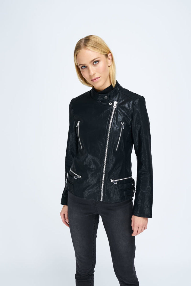 WBLFIRST FAUX LEATHER JACKET