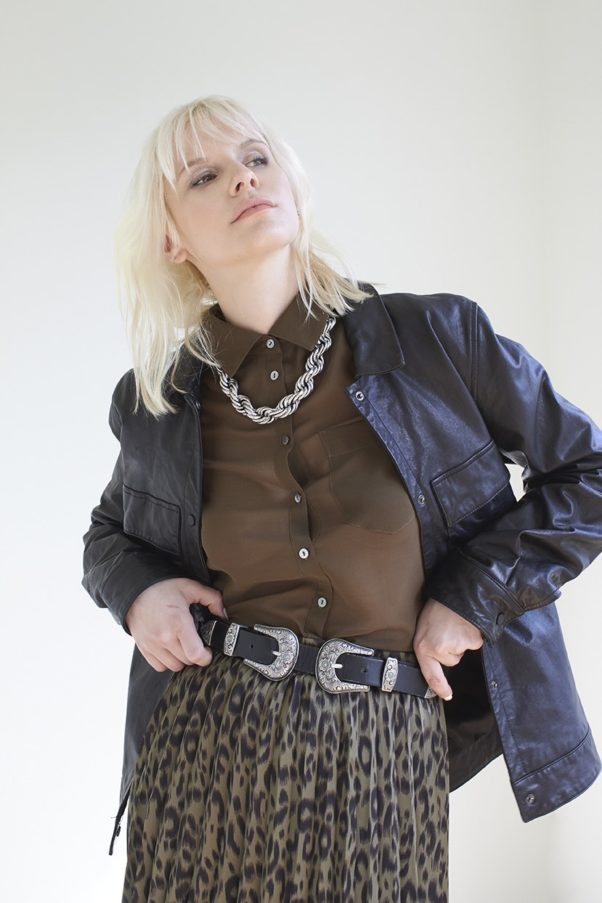 WBLMOBY LEATHER SHIRT JACKET