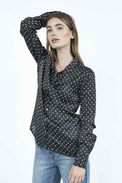 WBLLUCY PORTO SILK DOT SHIRT