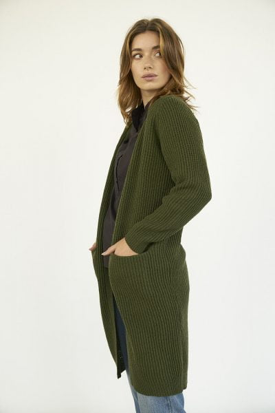WBLMELODY LONG WOOL CARDIGAN