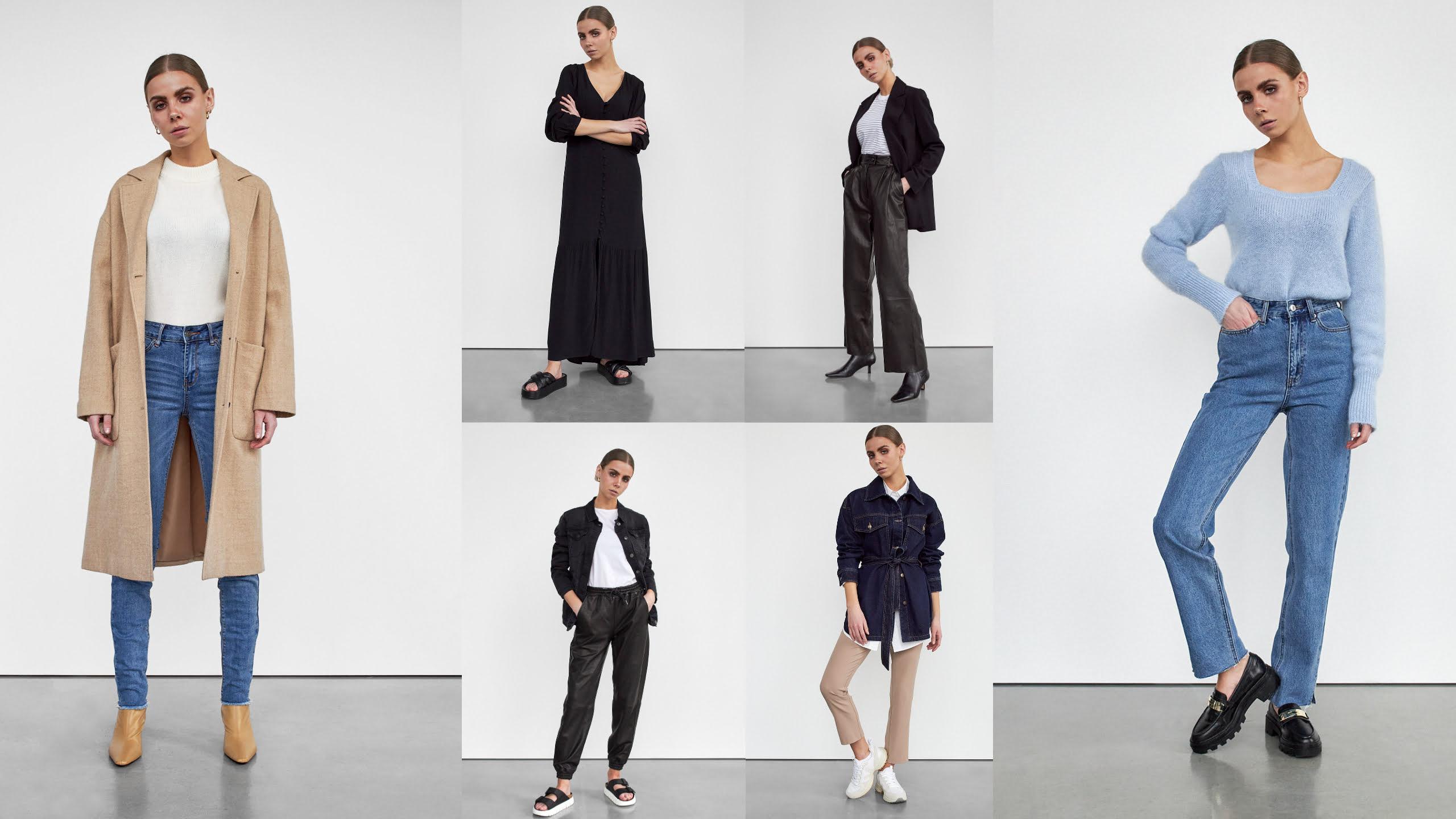 seks modeller med forskellige skandinaviske looks