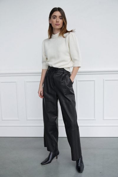 WBLLEILA WIDE LEATHER PANTS