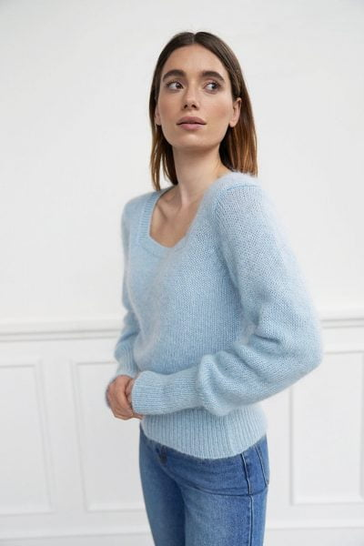 WBLSQUARE MOHAIR KNIT