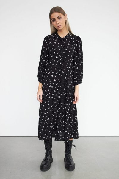 WBLNANCY MIDI DRESS 3/4 SLEEVE
