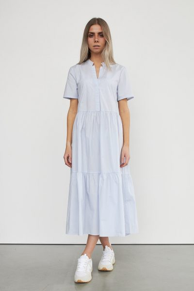 WBLBRANDY POPLIN SS LONG DRESS
