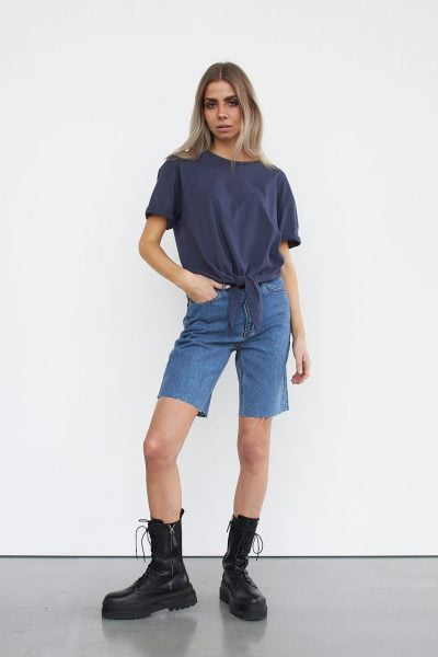 WBLMOON SS KNOT TOP
