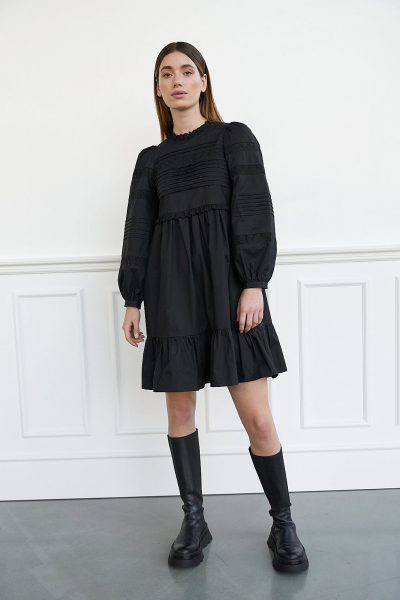 WBLCINDY SHORT EMB. DRESS