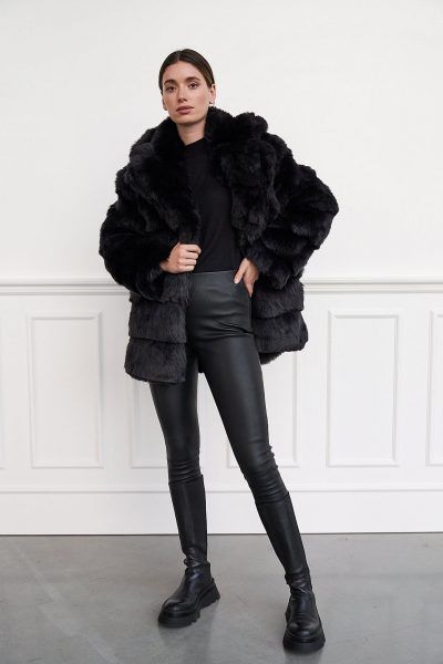 WBLGERRY FAUX FUR COAT