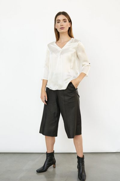 WBLJULES PORTO V-NECK SILK TOP