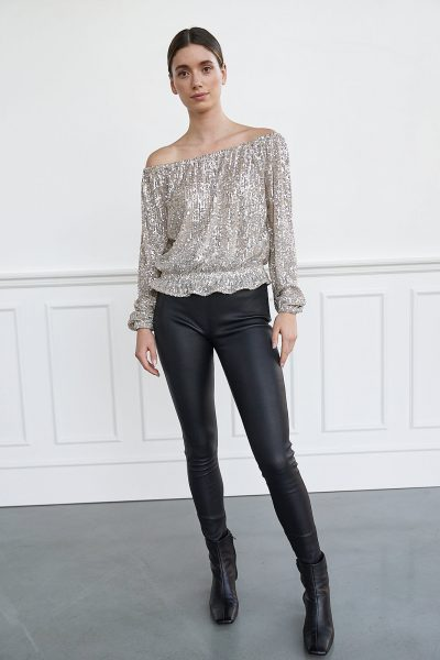 WBLTURNER LS SEQUIN TOP