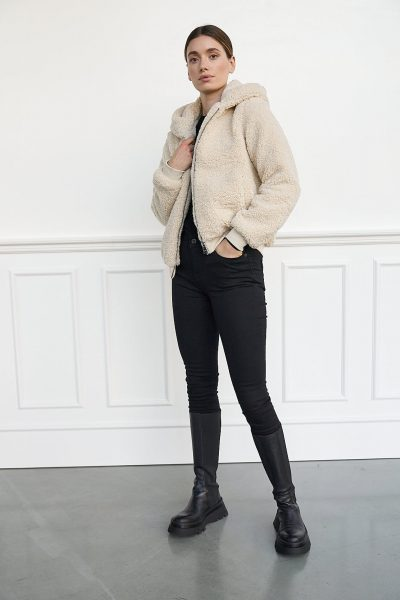WBLVIVIAN HOODED TEDDY JACKET
