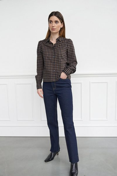 WBLCAMILLE LS CHECK SHIRT