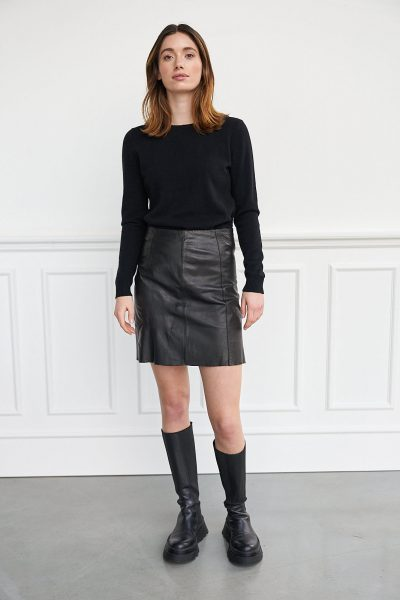 WBLFRANCIS LEATHER SKIRT