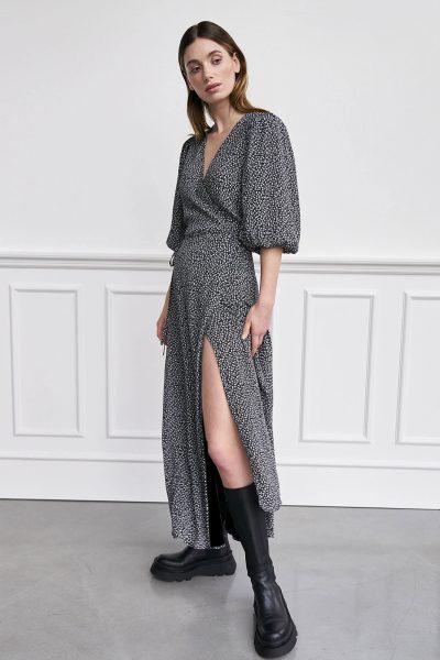 WBLFELINE WRAP MAXI DRESS