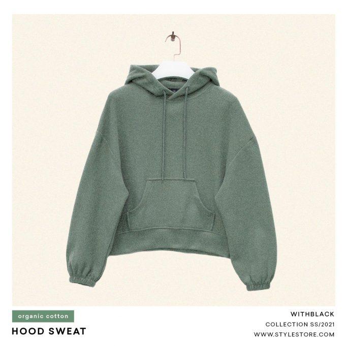 Grön hoodie, kvinnor
