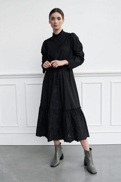 WBLCAROL EMB. MAXI DRESS