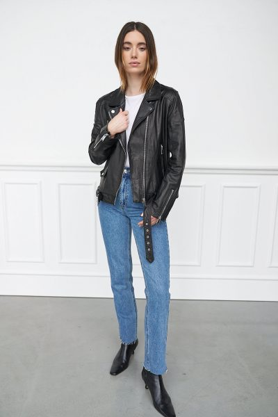 WBLMAYFAIR REAL LEATHER BIKER