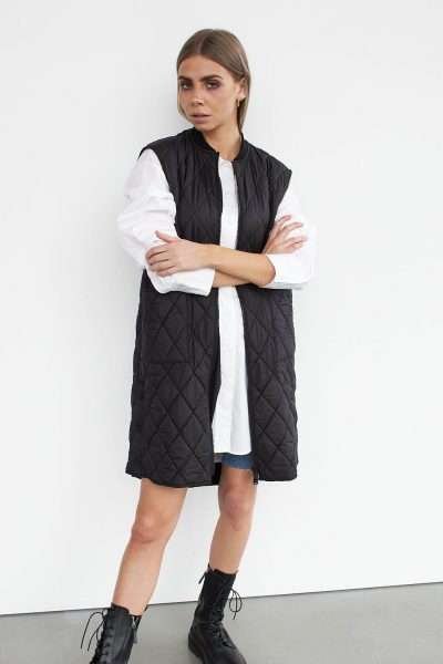 WBLLIVA QUILTED LONG WAISTCOAT