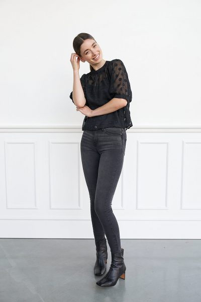 WBLMILEY LACE BLACK TOP