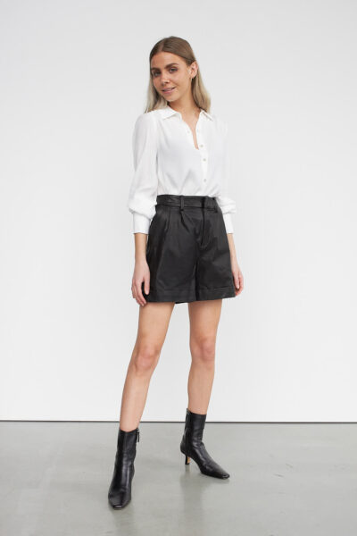 WBLFAYE LEATHER BERMUDA SHORTS