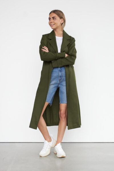 WBLMOLLY TENCEL SPRING COAT