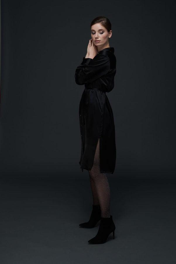WBLDREW PORTO SILK SHIRT DRESS