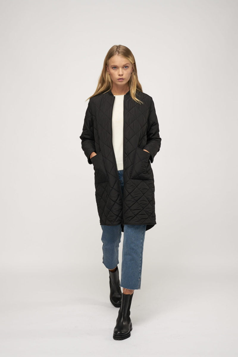 WBLLIVA QUILTED ZIP COAT