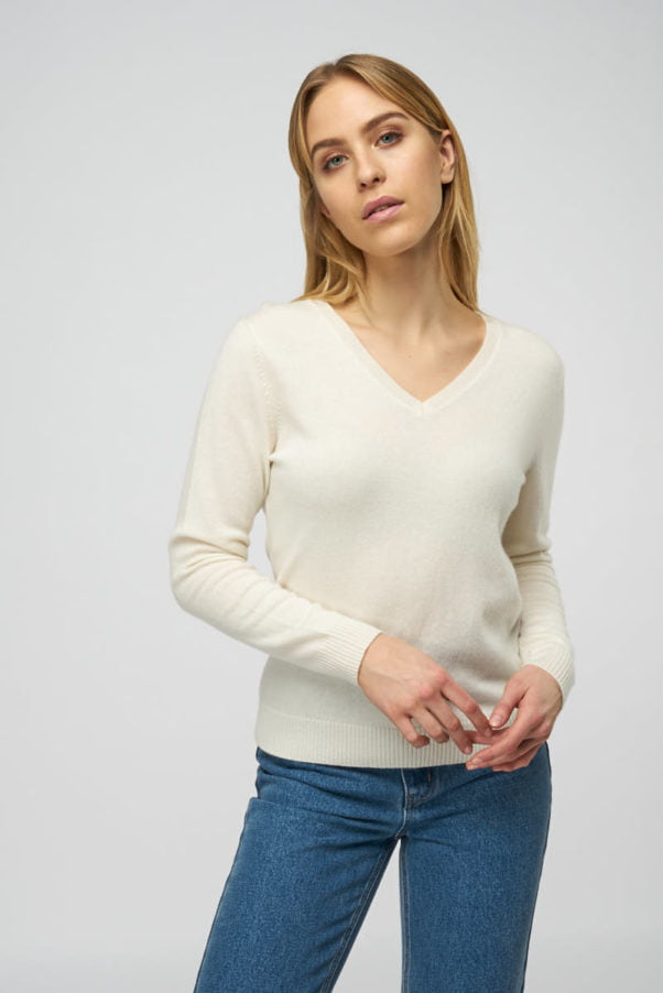 WBLPEARL V CASHMERE PULLOVER