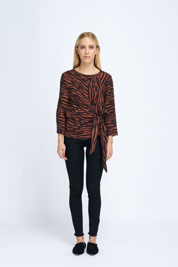 WBLCITY CITY TIE KNOT TOP