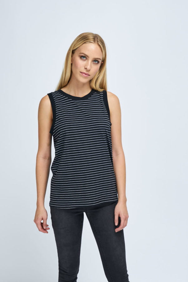 WBLPLANS SL STRIPED TOP