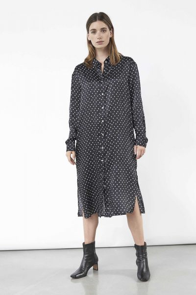 WBLDREW PORTO SILK DOT DRESS