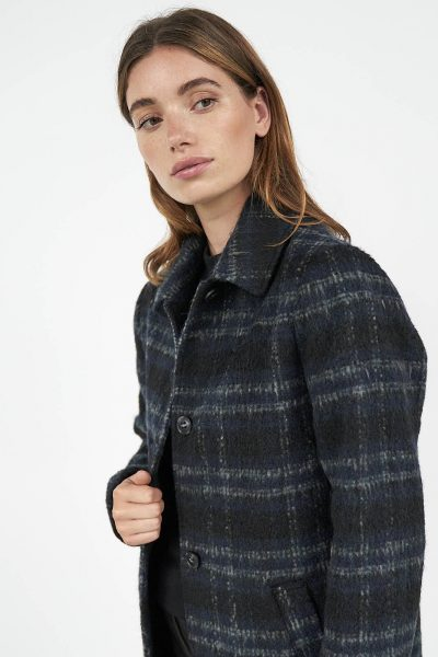 WBLRILEY CHECKED WOOL COAT