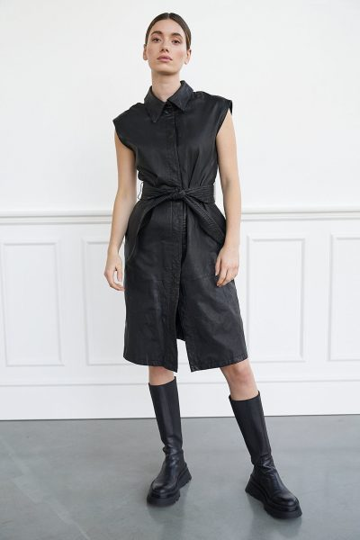 WBLPHOEBE LEATHER DRESS