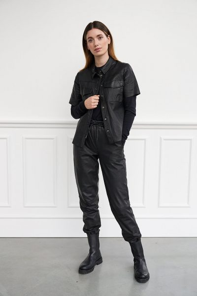 WBLQUEENS SS LEATHER SHIRT