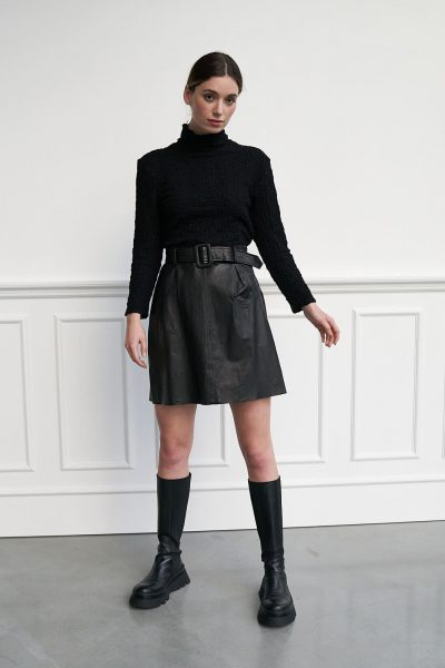 WBLRHIANNA LEATHER SKIRT
