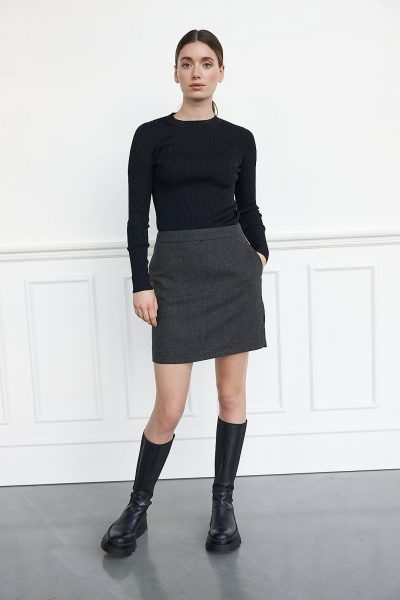 WBLSANA HERRINGBONE SKIRT