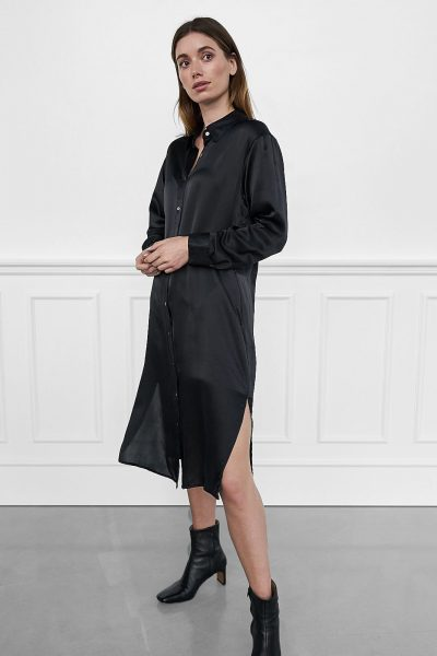 WBLDREW PORTO SILK SHIRT DRESS
