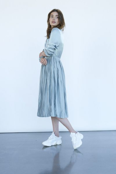 WBLELIEEN MARTA LS MIDI DRESS