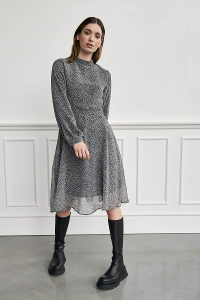 WBLJENNIFER ROME LS MIDI DRESS