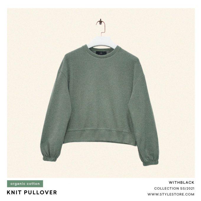 Green pullover, women