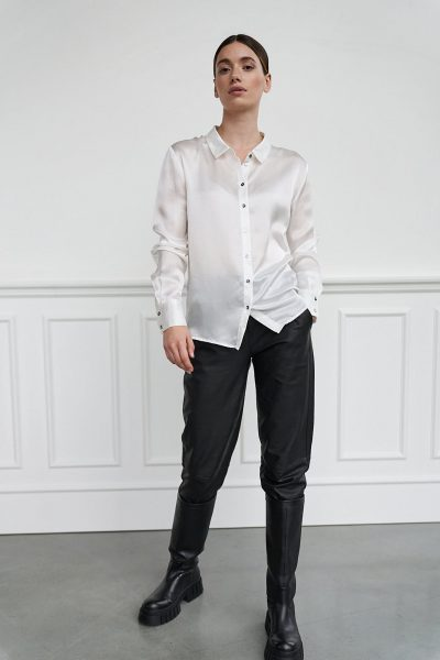 WBLLUCY PORTO LS SILK SHIRT