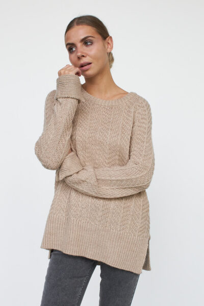 WBLMATHILDA CABLE LS  PULLOVER