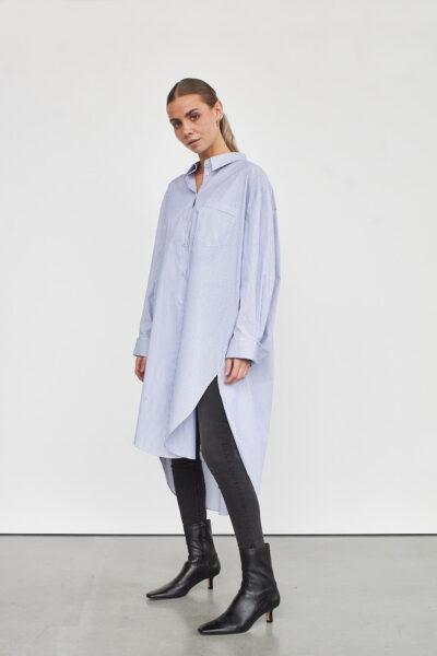 WBLSHIRLINE LS STP SHIRT DRESS