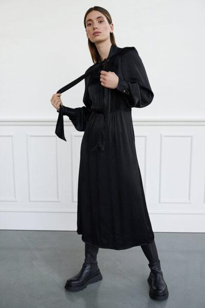 WBLALBA LS MAXI DRESS
